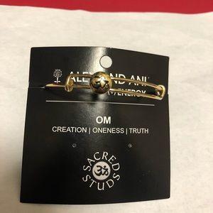 Alex & Ani Om Stud Gold Bracelet